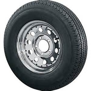 Car Trailer Tires And Wheels St205 75d14 Bias Ply Trailer Tire With 5 Bolt Chrome