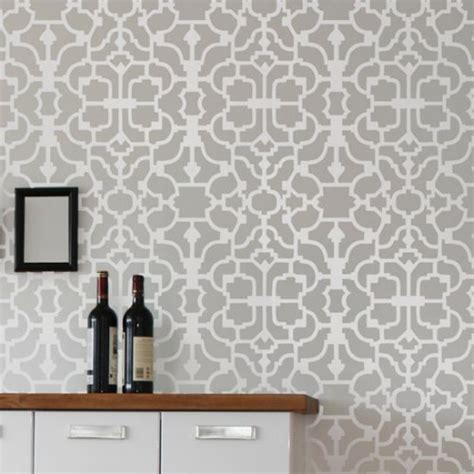 reusable wallpaper wall stencil vision reusable money saving diy wallpaper