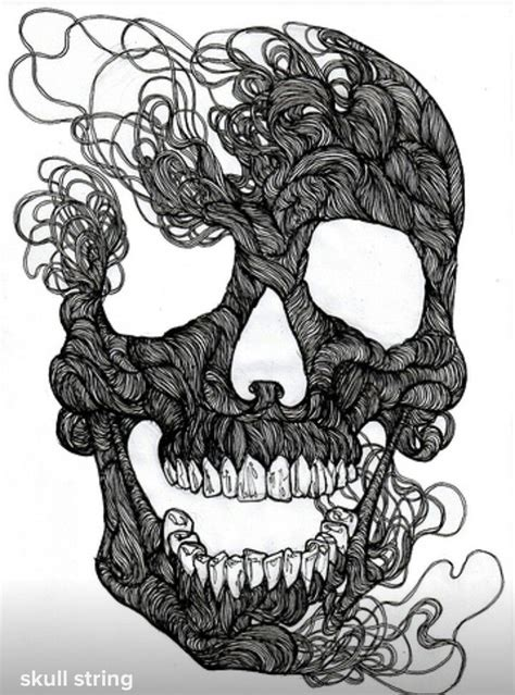 String Skull - 166 best images about skulls and on human