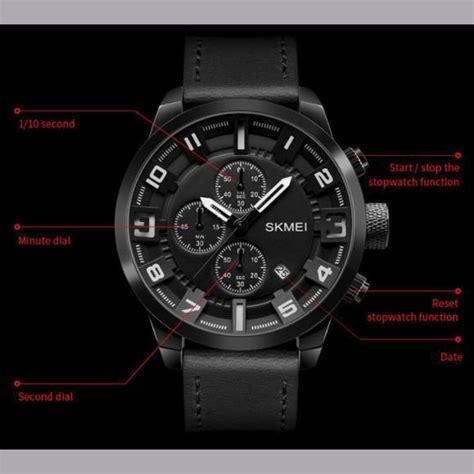Jam Tangan Pria Sport Quicksilver Chrono Aktif Black White skmei jam tangan analog chrono pria 1309 black jakartanotebook