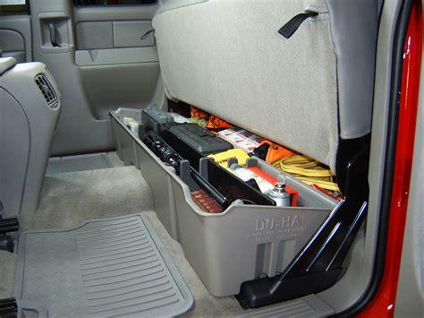 2015 chevy silverado under seat storage 2015 chevrolet silverado du ha truck storage box and gun