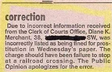 newspaper layout mistakes 15 hilarious newspaper mistakes and apology notes funny