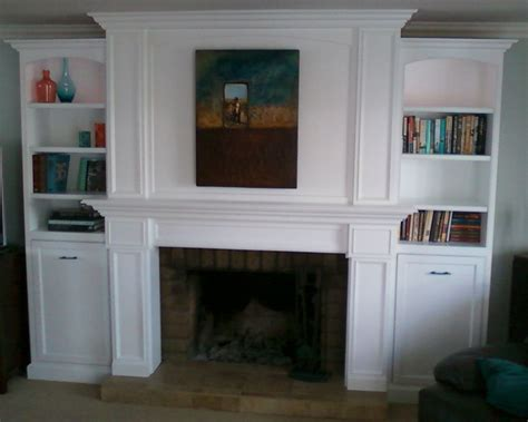 made mantel bookcase by santini custom furniture