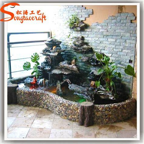 decorative waterfalls for home indoor artificial waterfall fountain fiberglass rock