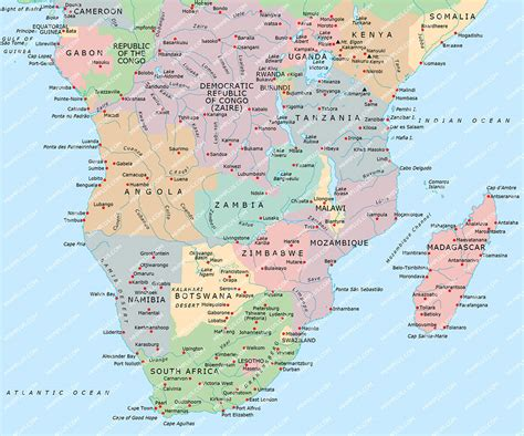 southern africa map southern africa map powerpoint mountain high maps plus