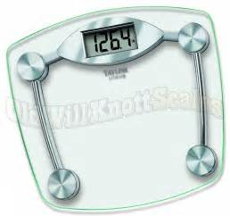 Bathroom Digital Scale The Taylor 7506 Glass Lithium Electronic Bathroom Scale