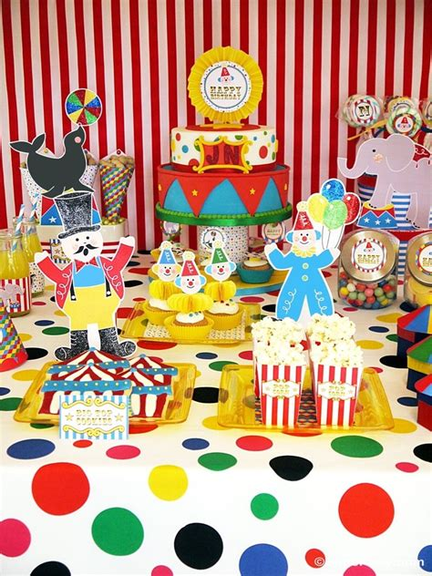 printable theme party decor circus carnival birthday party printables supplies