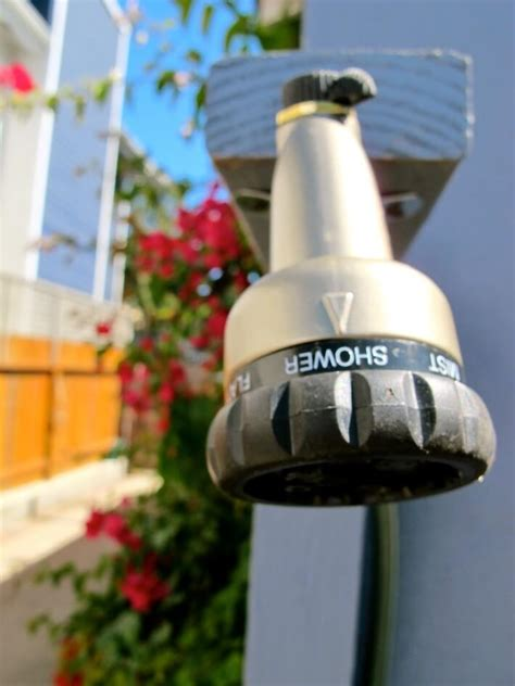 Garden Hose Shower How To Make An Outdoor Shower Using A Simple Garden Hose