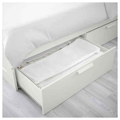Brimnes Bed Frame With Storage White Brimnes Bed Frame With Storage White Lur 246 Y Standard Ikea