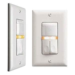 Ql Bb wattstopper cs 350 n w motion sensor pir dual relay wall switch vacancy sensor with