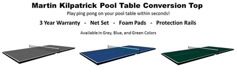 martin kilpatrick table tennis conversion top butterfly pt16b martin kilpatrick pool conversion table