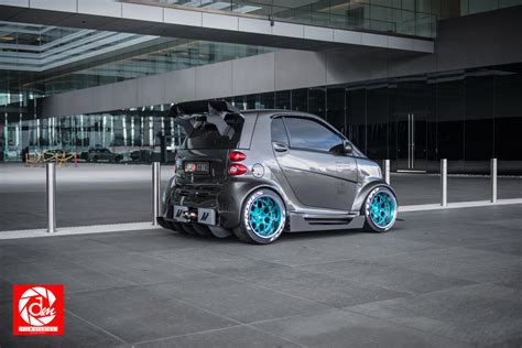 stanced smart car seen a smart car like this before stancenation
