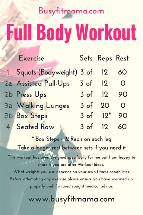 1000 ideas about workout plan for beginners on pinterest full body workout archives busyfitmama com