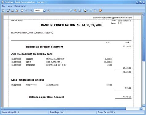 how bank reconciliation statement templates in excel