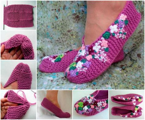 how to make knitted slippers how to make knitted slippers pictures photos and images
