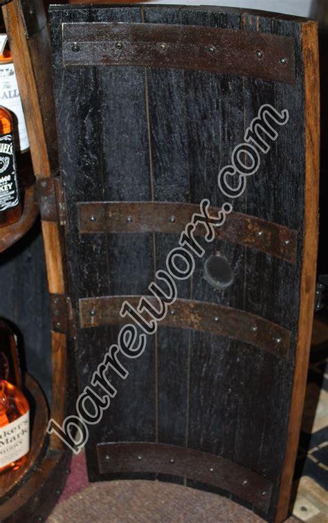 wine barrel liquor cabinet how to make a whiskey barrel liquor cabinet woodworking