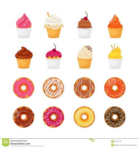 Draw House Plan Online donut cupcake icon stock vector image 41817167