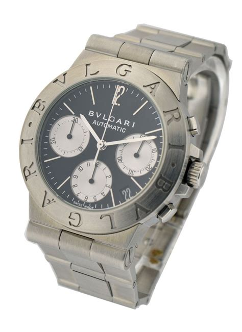 Bvlgari Diagono Automatic Diameter 35mm Unisex Ch35bssdauto Bvlgari Diagono 35mm Steel Essential Watches