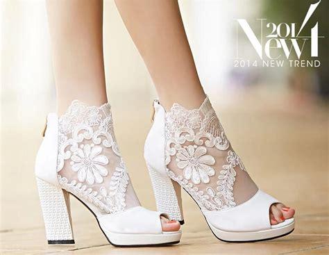 Brautschuhe Chagner by New Fashion Summer Wedding Boots 9 5cm High Heels