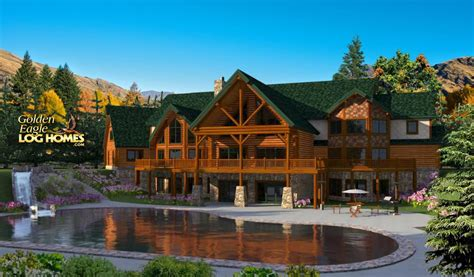 log home mansions golden eagle log and timber homes floor plan details log