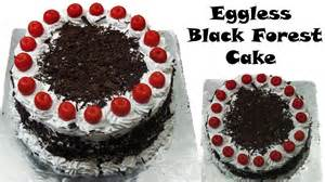 eggless black forest cake recipe oven recipe without condensed milk using milk youtube