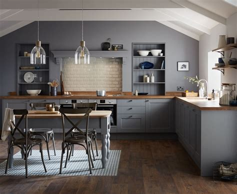 Howdens Kitchen Cabinets by Fairford Slate Grey Kitchen Shaker Kitchens Howdens