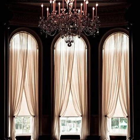 Window Treatments For Arched Windows Decor Sheer Curtains Design Ideas
