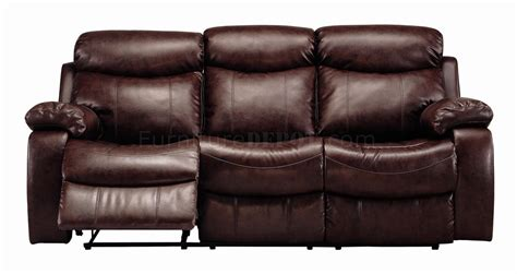 600561 denisa motion sofa in brown bonded leather w options