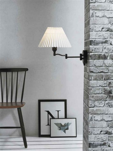 Frida Bedside L Pleated Shade by Pleated Shade Swing Arm Wall Light