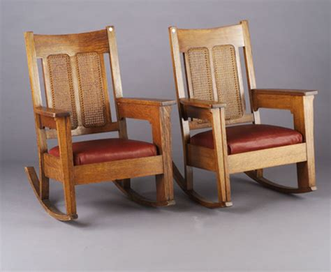Wisconsin Chair Company by Pair Of Wisconsin Chair Company Rockers Each 612089