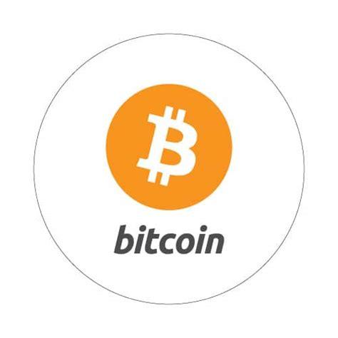 bitcoin btc bitcoin with logo round sticker 35mm bitstickers