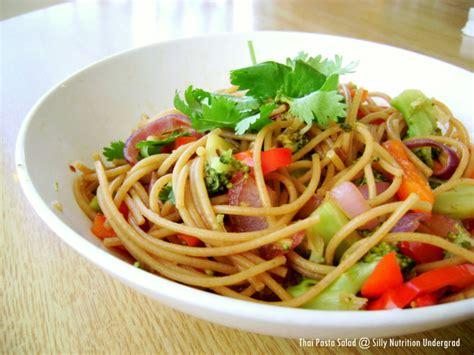 thai pasta salad thai pasta salad from casual kitchen the silly