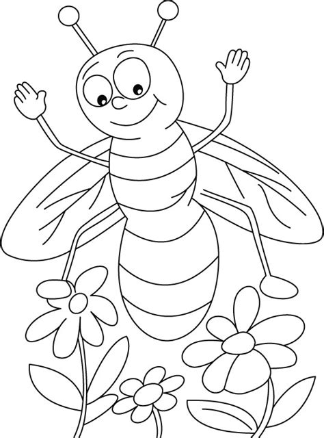 Honey Bee Coloring Page Printable Bee Coloring Pages Coloring Me by Honey Bee Coloring Page