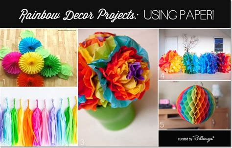 Rainbow Hanging Decoration diy rainbow decorations made from paper tassels