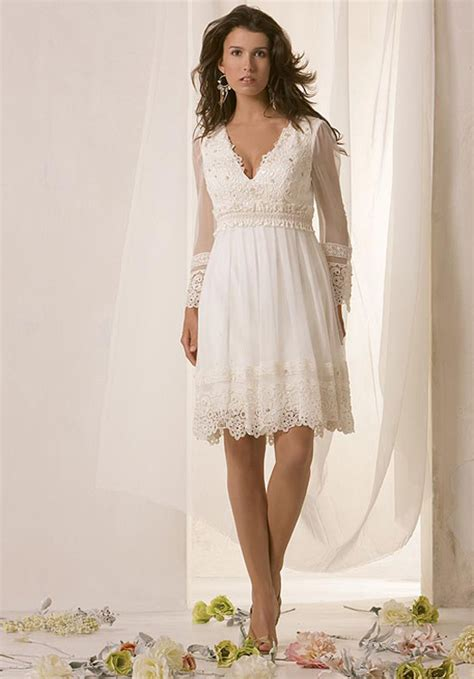 casual wedding dresses with sleeves styles of