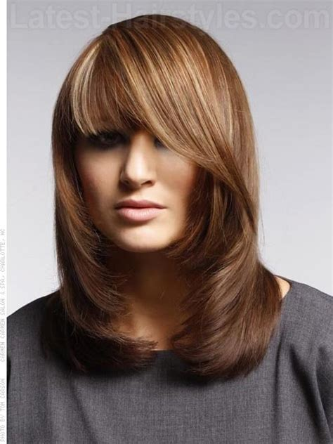 hairstyles for 60 with square 67 best haircuts straight hair w medium length images on