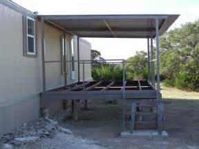 Metal Awnings For Decks Ranch House Steel Patio Cover Deck And Stairs Junction Texas