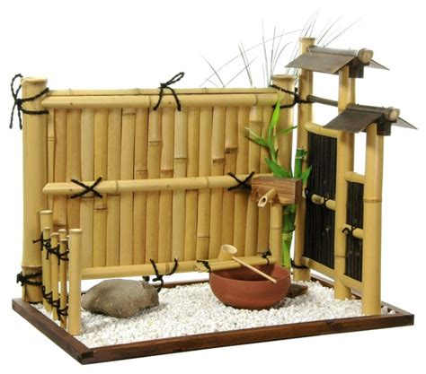 zen bamboo mini rock garden home decor houzz