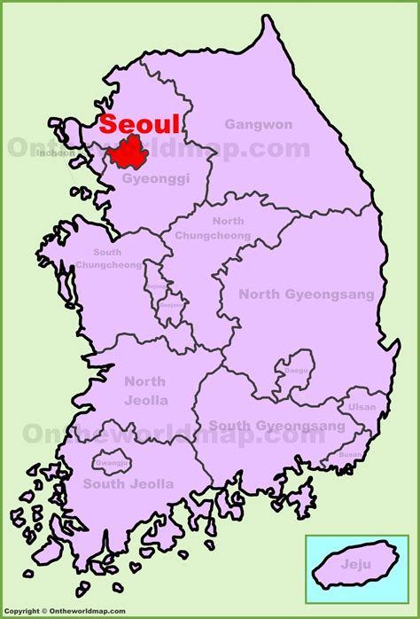 where is south korea on the map seoul location on the south korea map