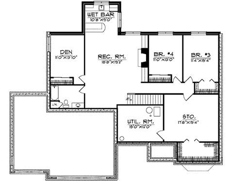 bay window floor plan bay window and column flanked entry 89070ah