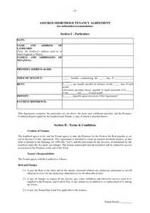 Letting Agreement Template Free assured shorthold tenancy agreement template