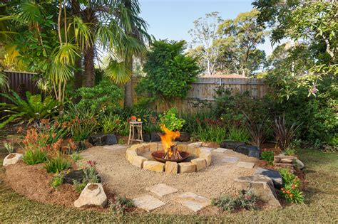 fire pit  homes  gardens