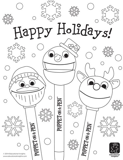 free coloring pages happy holidays free happy holiday coloring pages beyond the toy chest