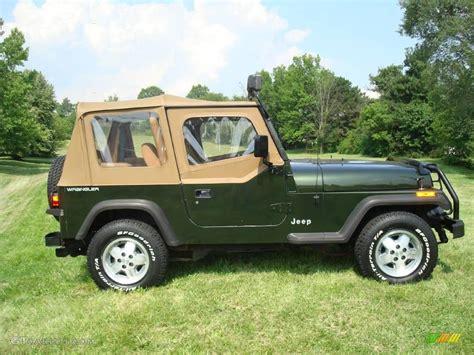 pearl jeep wrangler 1995 emerald green pearl jeep wrangler se 4x4 15109933