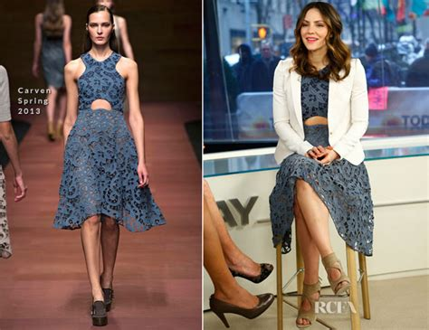 Whats Katharine Mcphees Favorite Perfume by Katharine Mcphee In Carven The Today Show Carpet