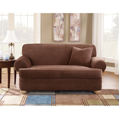 Three Slipcover sure fit stretch pique t cushion three loveseat slipcover loveseat slipcovers at hayneedle