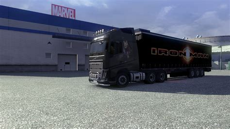 trailer volvo iron man skin trailer for volvo euro truck simulator 2