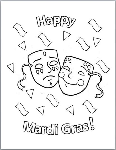 free printable coloring pages mardi gras free printable mardi gras coloring pages
