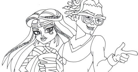 monster high coloring pages deuce free printable monster high coloring pages boo york cleo