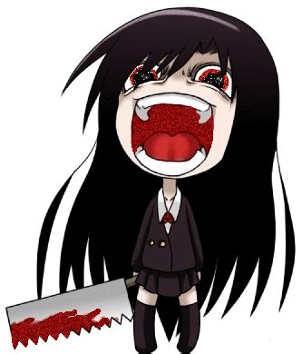 libro chibi girls horror an creepy anime gif chibi gothic art and anime chibi creepy and anime